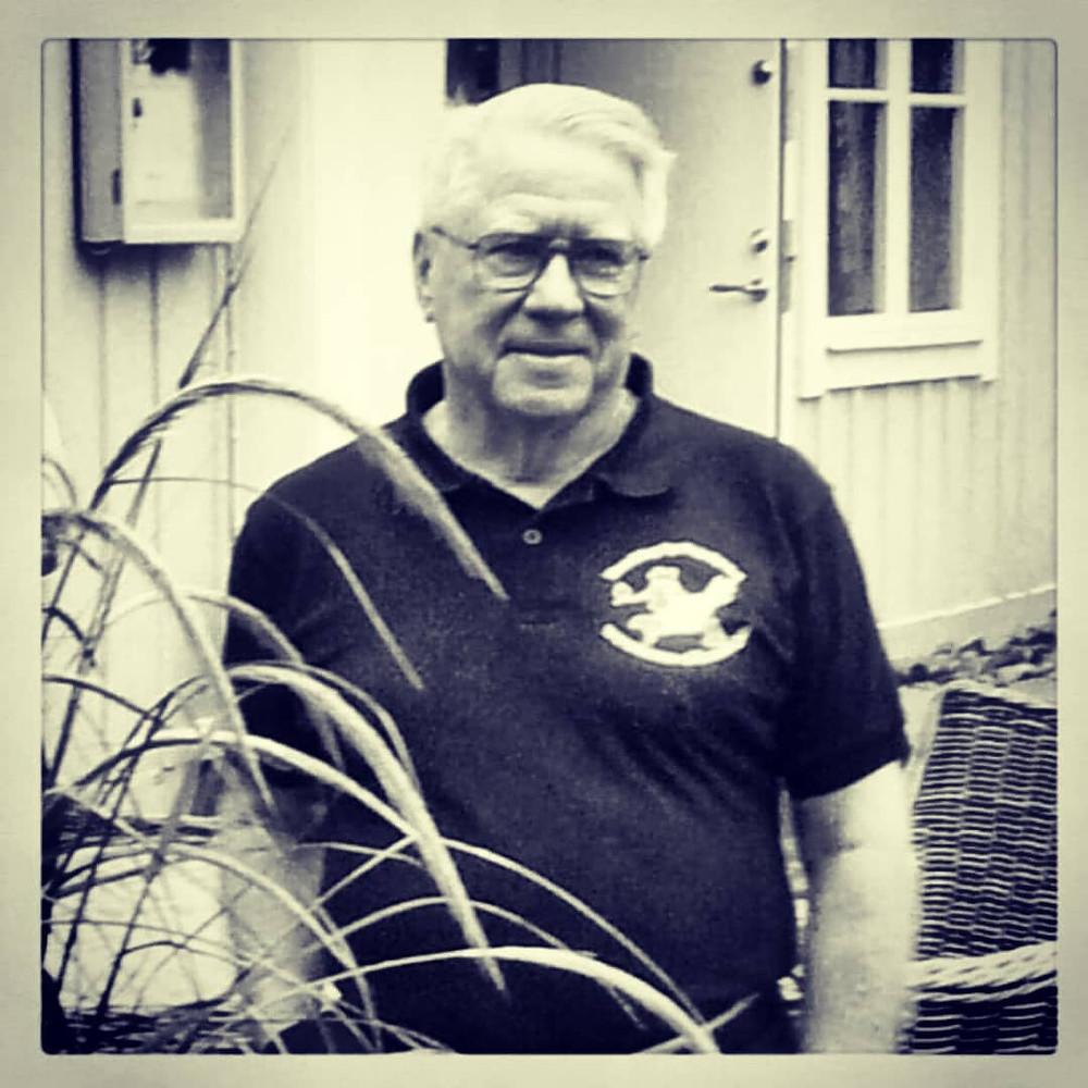 Robert E. Bailey (kallas Bob) vid besök i Jakobsberg 2012