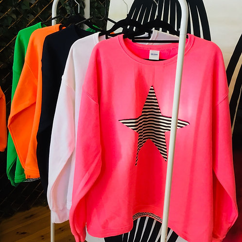 Striped Star Sweater