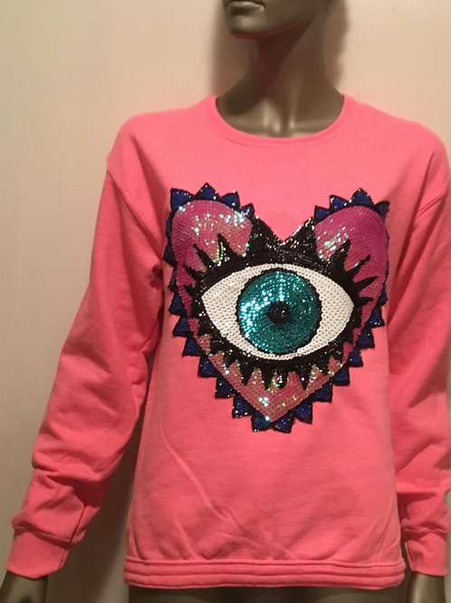 Sequin Eye Sweater