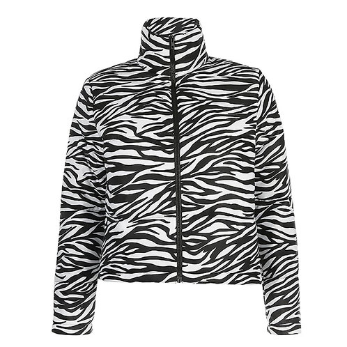 Zebra Puffer Jacket