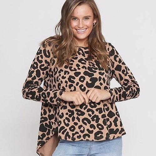 Mocha Leopard Hi Lo