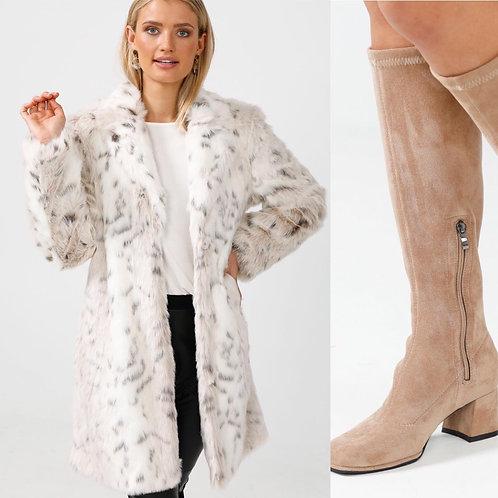 Snow Leopard Fur Coat