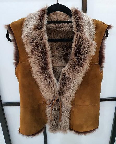 Sheepskin waistcoat