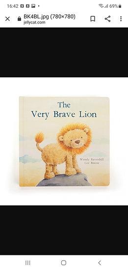 Jellycat very brave lion book
