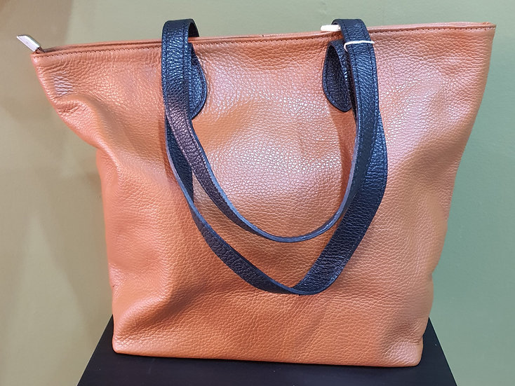 Small Leather Shopper Bag