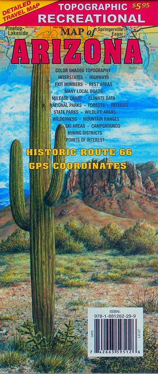 R-5 Arizona Topographic Recreational Map