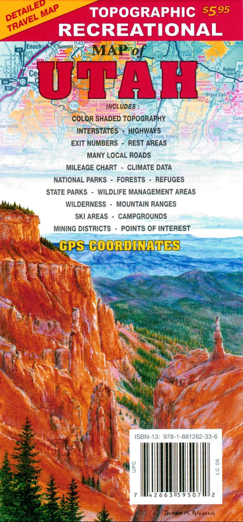 R-7 Utah Topographic Recreational Map