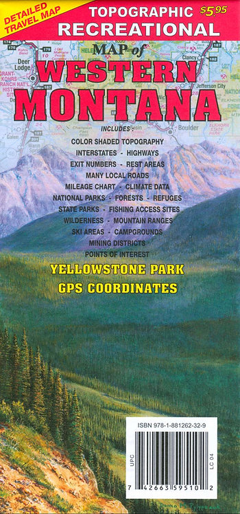 R-3 Western Montana Topographic Recreational Map
