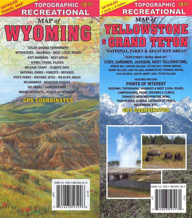 Wyoming and Yellowstone/Grand Teton Bundled Maps