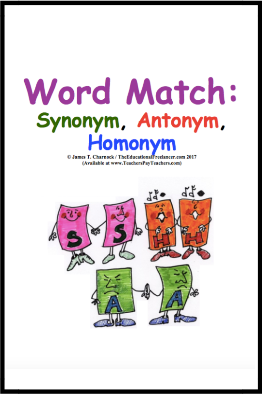 Word Match Games: Synonym, Antonym, Homonym