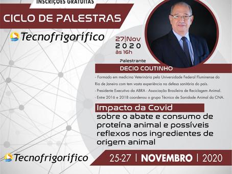 """Dr. Decio Coutinho ministrará sobre o  """"Impacto da Covid no abate e consumo de proteína animal""""."""