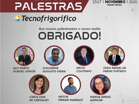 Agradecimento aos Palestrantes Tecnofrigorifico 2020 - edição virtual!