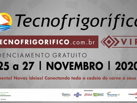 Aberto o credenciamento de visitantes para a feira Tecnofrigorifico 2020 - Edição VIRTUAL