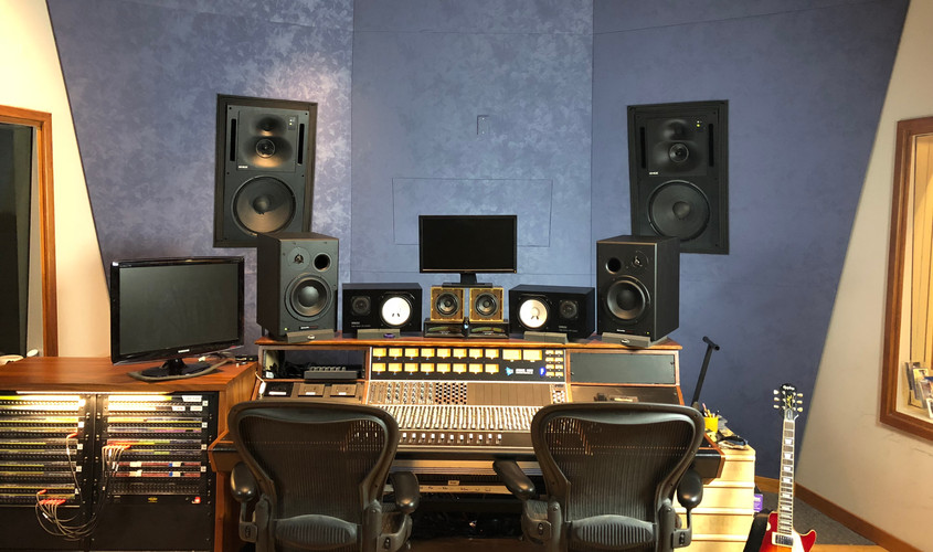 Custom API 1608 Console & Genelec Monitors