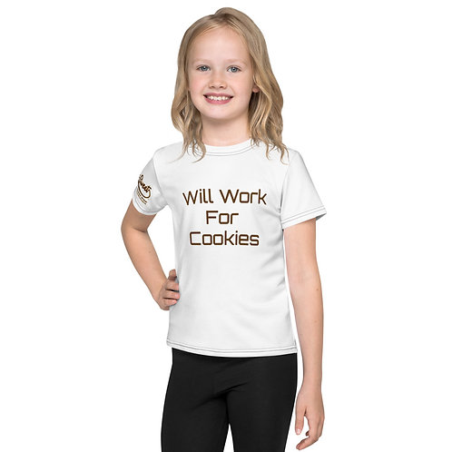 GoodenSweet Will Work for Cookies Kids T-Shirt