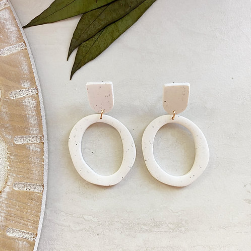 small hoops (white)