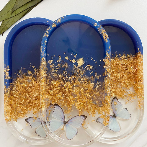 blue butterfly catch all tray