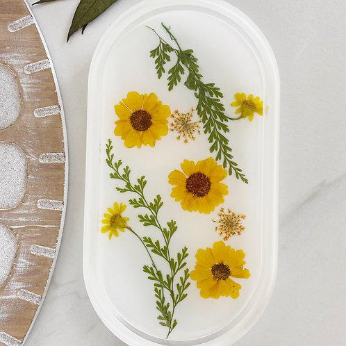 yellow daisy catch all tray