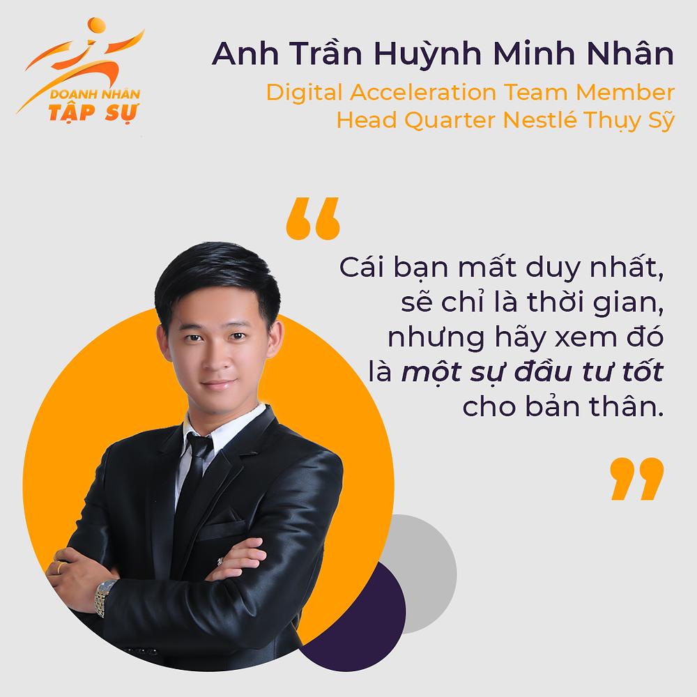 Anh Trần Huỳnh Minh Nhân hẹn các bạn sinh viên vào một ngày không xa tại Nestle