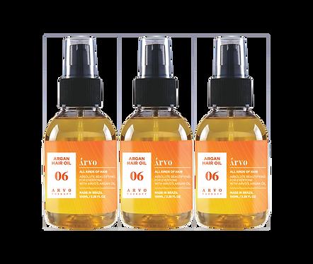 06 Argan Hair Oil 100ml 3 peças - Promocional