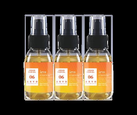06 Argan Hair Oil 60ml 3 peças - Promocional