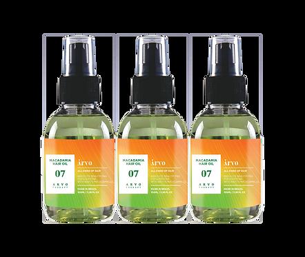 07 Macadamia Hair Oil 100ml 3 peças - Promocional