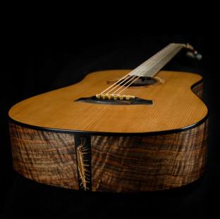A Bent Twig Mini Dreadnought custom acoustic guitar