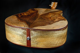 highly figured custom acoustic guitar