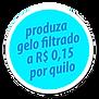 Produza gelo filtrado a R$ 0,15 por Kg