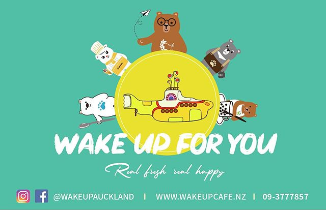 Wake Up For You!🦉🐻🎸☕️ #aucklandcafe#a