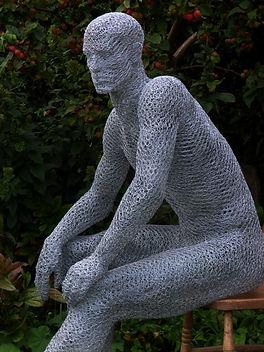 """Wire Sculpture """"The Green Man""""by Derek Kinzett Wire Sculptures"""