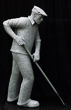 """Wire Sculpture """" Spirit of the Nurseryman"""" by Derek Kinzett Wire Sculptures"""