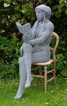 """Wire Sculpture ""The Reader"" by Derek Kinzett - Wire Sculptures"