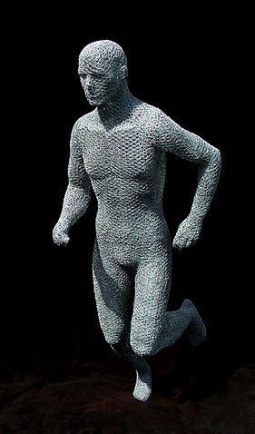 "Wire Sculpture ""The Running Man"" by Derek dedicated to Jamie McDonald"