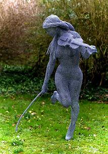 """Wire Sculpture """" Free Spirit"""" by Derek Kinzett Wire Sculptures"""
