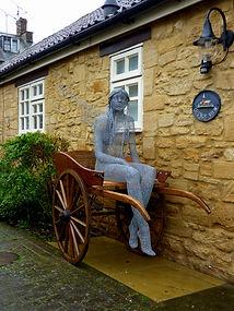 """Wire Sculpture """" The Fairy Cart"""" by Derek Kinzett Wire Sculptures"""