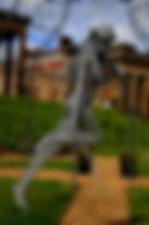 """Wire Sculpture """"Free Spirit"""" by Derek Kinzett Grange Park Opera Exhibition"""