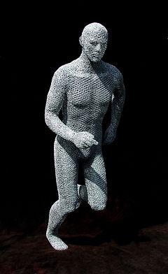 "Wire Sculpture ""The Running Man"" by Derek dedicated to Jamie McDonald"