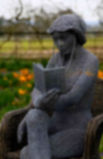 """Wire Sculpture """"The Reader"""" by Derek Kinzett Wire Sculptures"""