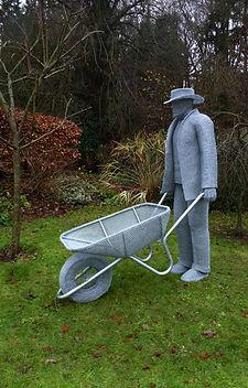 """Wire Sculpture """"Orchard Spirit"""" by Derek Kinzett Wire Sculptures"""