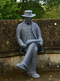 """Wire Sculpture ""Harold Peto"" by Derek Kinzett Wire Sculptures"