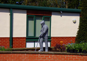 """""""Wire Sculpture """"Spirit of The Nurseryman"""" by Derek Kinzett Wire Sculptures"""