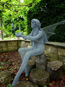 """Wire Sculpture """"Mother Sprite"""" by Derek Kinzett Wire Sculptures"""