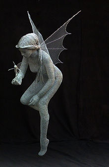 """Wire Sculpture ""Mother Sprite"" by Derek Kinzett - Wire Sculptures"