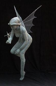 """""""Wire Sculpture """"Mother Sprite"""" by Derek Kinzett - Wire Sculptures"""