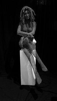 """Wire Sculpture """" Moonbeam"""" by Derek Kinzett Wire Sculptures"""