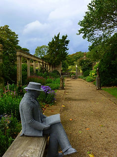 """Wire Sculpture, Iford Manor ""Harold Peto"" by Derek Kinzett"""