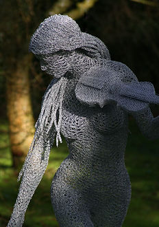 "Wire Sculpture ""Free Spirit"" by Derek Kinzett Grange Park Opera Exhibition"