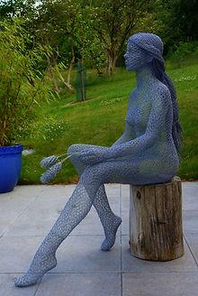 """""""Wire Sculpture """"Valley Spring"""" by Derek Kinzett - Wire Sculptures"""