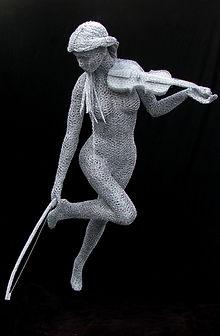 """""""Wire Sculpture """"Free Spirit"""" by Derek Kinzett - Wire Sculptures"""